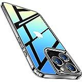TORRAS 強化ガラス iPhone 13 Pro Max 用 ケース 超透明 9H硬度 薄型 軽量 黄変なし TPUバンパー ストラップホール付き 傷防止 レンズ保護 2021年 6.7インチ アイフォン 13 プロ マックス 用 カバー クリア