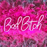 Divatla Bad Bitch Neon Sign, 5v USB Powered. Nice Looking Neon Light with Dimmable Switch. Neon Signs for Wall Decor