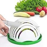 Salad Cutter Bowl Family Size Upgraded Salad Maker, Fast Fruit Vegetable Salad Chopper Bowl, Fresh Salad Slicer FDA Approved