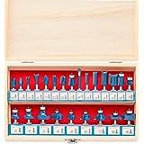 Hiltex 10108 Tungsten Carbide Router Bit Set, 24 Piece | 1/4-Inch Shank, Blue