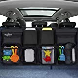 Big Ant Back Seat Trunk Organizer,Space Saving Car Trunk Storage Organizer with Lid Keep Your Trunk Clean and Tidy 8 Large Po