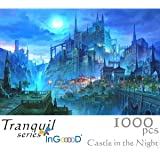 Ingooood- Imagination Series- Castle in The Night- Jigsaw Puzzles 1000 Pieces for Adult …