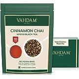 VAHDAM, Cinnamon Masala Chai Tea (100 Cups)   100% Natural Spices   Ancient Cinnamon Tea Recipe   Spiced Chai Tea Loose Leaf