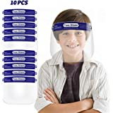 10 Pack Kids Anti-Fog Face S.hields Safety S.hield with Elastic Band For Children (Blue)