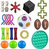 Fidget Pack, 25Pcs Fidget Toys Cheap Fidget Toys Set Sensory Fidget Toys for Kids Adults, Simple Dimple Fidget Toys, Stress R