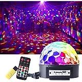 CHINLY 舞台照明 ステージライト ミラーボール RGB多色変化 音声制御 回転ライト 水晶魔球 ミラーボール パーティー DJ ディスコライト クラブ バー照明用ライト イベント・文化祭・パーティー用