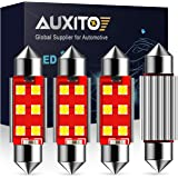 AUXITO Extremely Bright CANBUS Error Free 6-SMD 3030 Chipset 41mm 42mm 212-2 578 Festoon Xenon White LED Bulbs Replacement fo
