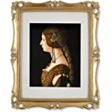 Simon's Shop 11x14 Picture Frame Antique Frame 11x14 Vintage Photo Frames 8x10 with Mat in Gold, Wall Mounting Poster Frames
