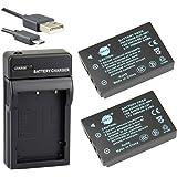 DSTE® アクセサリーキット Kodak KLIC-5001 DB-L50 互換 カメラ バッテリー 2個+USB充電器キット対応機種 Easyshare P850 Z760 DX7440 DX7590 DX7630 Zoom Sanyo DMX-