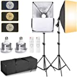 Abeststudio Softbox Lighting Kit, Professional Photography 2x 85W 3200K-5600K Dimmable LED Continuous Light Studio Equipment