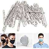 Nose Bridge Strips for Mask,100PCS Aluminum Strips Nose Wire,Adjustable Flat Nose Clips Nose Bridge Bracket for DIY Face Mask