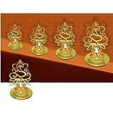 4 Pc Set Lord Ganesha Shape Diwali Shadow Diya. Deepawali Traditional Decorative Diya in Lord Ganesha Shape for Home/Office.R