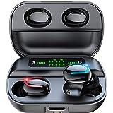 ワイヤレスイヤホン bluetooth イヤホン 5.0 完全 ワイヤレス イヤホン 瞬時接続 ノイズキャンセリング ハンズフリー通話 高音質 IPX7防水 両耳 片耳 左右分離型 自動オンオフ 自動ペアリング カナル型 ランニング コードレスイヤホ