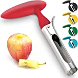 Professional Apple Corer Stainless Steel - Easy to Use Apple Corer Remover, Works on Pears, Bell Peppers, Fuji, Honeycrisp, G