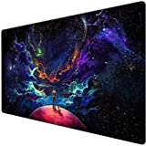 Large Size Anti-Slip Gaming Mouse Mat/Pad, Custom Design Desk Pad with Smooth Surface XXL Size (90X40 Little dogY11)