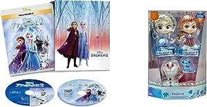 【Amazon.co.jp限定】アナと雪の女王2 MovieNEX コンプリート・ケース付き(HOTTOYSコラボレーション企画 オリジナルコスベイビー付き<アナ,エルサ,オラフ,サラマンダー>) [ブルーレイ+DVD+デジタルコピー+MovieNEXワールド] [Blu-ray]