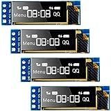 MakerFocus 4pcs I2C OLED Display Module 0.91 Inch I2C SSD1306 OLED Display Module White I2C OLED Screen Driver DC 3.3V~5V for