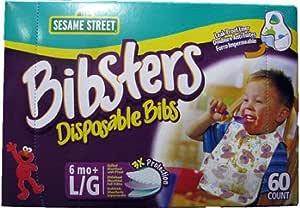 Bibsters bibsters パンパースビブスター 使い捨て よだれ掛け 60枚入り エルモ  1