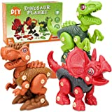 Pamea Dinosaur Building Construction Toy Kit with Electric Drill for Boys Girls Toddler - Great Educational Gift