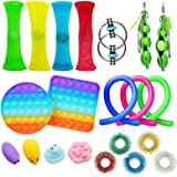 21 Fidget Toy Sets, Pop it Sensory Toys, Suitable for Children and Adults with Autism and ADHD, Very Suitable for Birthday Pa