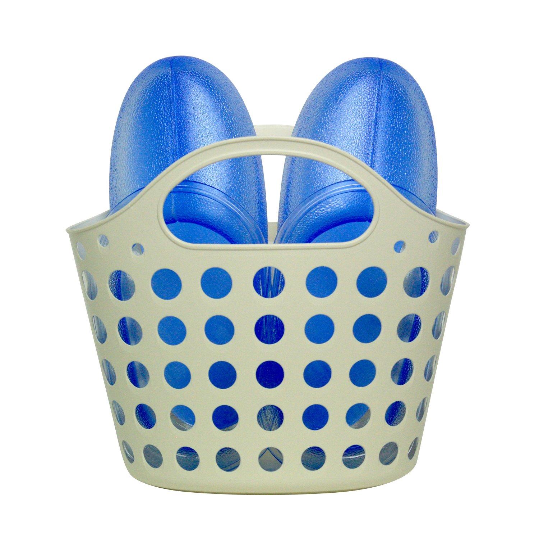 ミツギロン お風呂ブーツ バスケット 26cm スケルトンブルー 袋1セット