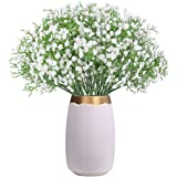 CHAMER 16 Pcs Baby Breath Artificial Flowers Fake Gypsophila Bouquets Fake Real Touch Flowers for Wedding Party Home Decorati