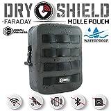 Mission Darkness ドライシールドMOLLE ファラデーポーチ -- 電気機器のセキュリティーと搬送/ シグナルブロック/ 対トラッキング/ EMP シールド / 携帯電話、タブレット等のデータセキュリティー用の防水ドライバッグ
