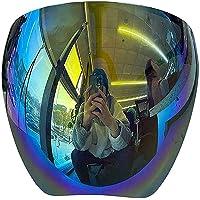 サングラス保護フェイスシールド、フルフェイス偏光サングラス、男性女性用ブルーライトフィルター軽量バイザー (A)