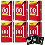 Japan Okamoto 001 0.01 mm Thinnest Condoms Large Size 3 Pieces x6 boxes (Total 18 pcs)