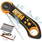 PIGGY PIGGY'S Instant Read Meat Thermometer Waterproof Digital Food Thermometer with Backlight, Magnet, Calibration, and Long