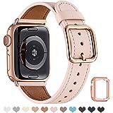 MNBVCXZ コンパチブル apple watch バンド,本革 交換バンド 高級 レザー、交換ストラップです コンパ…