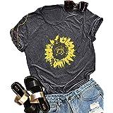 Women Sunflower Shirts Plus Size Faith Tops Summer Short Sleeve Loose Casual T Shirt Junior Teen Girls Graphic Tees