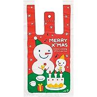 手提げ袋 レジ袋 クリスマス スノーマン-S (100枚) XS-S