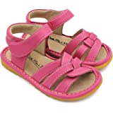 Toddler Girl Sandals | Little Mae's Gleeful Toddler Girl Squeaky Sandals
