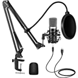 Neewer USB Microphone Kit for Windows and Mac, Includes Suspension Scissor Arm Stand, Shock Mount, Pop Filter, USB Cable and