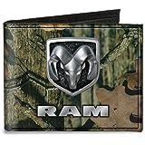 Buckle-Down Canvas Bi-fold Wallet-Ram Logo Mossy Oak Break-up Infinity