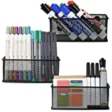 Minima Magnetic Organiser Pencil Holder Set of 3 - Mesh Storage Baskets with Extra Strong Magnets - Perfect Marker and Pen Or