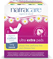 Natracare Ultra Extra Pads with Organic Cotton Cover, Long with wings, 8ct