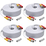ANNKE (4) 150 Feet Video Power Cable for Security Camera System, All-in-One BNC Video and Power CCTV Security Camera Cable wi