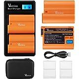 Vemico EN-EL15/EN-EL15A バッテリー LCD付き充電器 キット 2個互換バッテリー 大容量2100mAh 対応機種 Nikon EN EL15 /1 V1/D500 /D7100 /D750 /D7000/ D7200/ D75