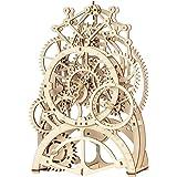 ROKR 3D Wooden Mechanical Pendulum Clock Puzzle,Mechanical Gears Toy Building Set,Family Wooden Craft KIT Supplies-Best Birth