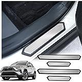 RAV4 Interior Accessories,RAV4 Door Sill Protector Compatible for Toyota Rav4 2019 2020,RAV4 Door Step Plate,RAV4 Protecte Do