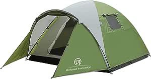 HUI LINGYANG テント アウトドア 3-4人用 コンパクト 前室あり 二重層  防風 防水 キャンプ用品 設営簡単