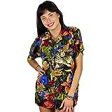 V.H.O Funky Hawaiian Blouse, Jungle, Black, 6XL