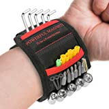 Ceenwes Magnetic Wristband and Telescoping Magnetic Pick-Up Tool for Holding Screws, Nails, Drill Bits Gifts for Men Tools fo
