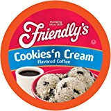 Friendly's Chocolate and Vanilla Flavored Coffee Pods for Keurig K Cup Brewers, Cookies & Cream, 40 Count (Pack of 1)