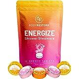 Essential Oil Shower Steamer Set – 12 Grapefruit, Cacao Orange, Citrus Scented Aromatherapy Shower Steamers – Vapor Steam Tab