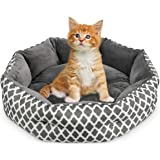 JOYO Cat Bed, 20 inch Pet Bed Machine Washable for Cats or Small Dogs Double Sided Cushions Calming Indoor Cushion Bed with N