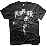 Marvel Officially Licensed The Punisher Blood Big & Tall 3XL,4XL,5XL Mens T-Shirt (Black)