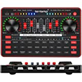 Audio Interface with Mixer and Sound Card, tenlamp Portable G3 Mixing Equipment with 24 Sound Effects & BT Wireless Accompami